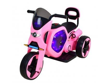 Elektrická dětská trojkolka RACCEWAY, růžová