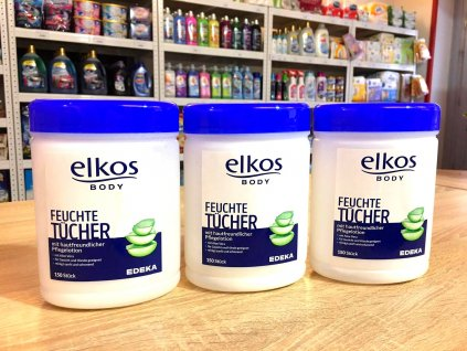 Elkos (Německo) ELKOS XXL Vlhčené ubrousky v boxu 150ks