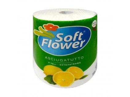 SOFT FLOWER Kuchyňské utěrky třívrstvé XXL 50m 1role