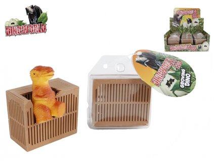 Dinosaurus 6cm s klecí 6druhů na kartě 12ks v DBX