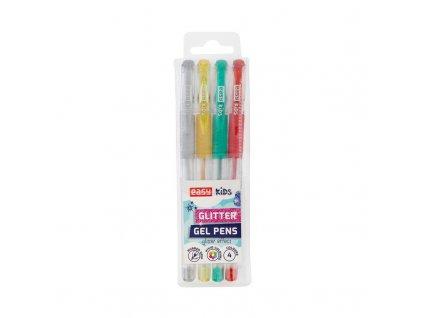 GLITTER - gelové pero - mix barev - 4ks/sada