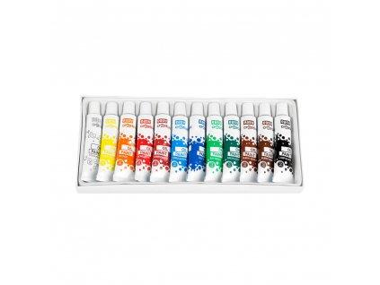 Olejové barvy 12 barev
