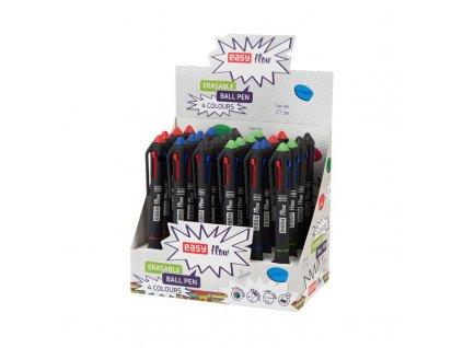 EASY FLOW 4COLOURS 24 ks Přepisovatelné pero gumovací, 4 barvy