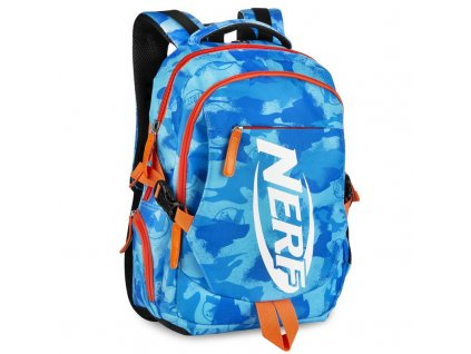 Spokey HASBRO BRONCO Batoh školní sportovní, zn. NERF, modro-oranžový
