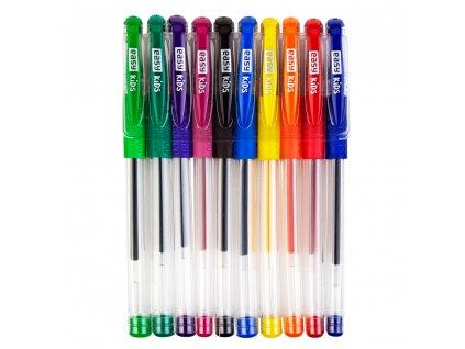 GLITTER - gelové pero - mix standardních barev, 10ks/sada, papírová krabička