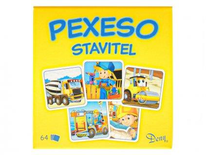 Pexeso Stavitel 64ks v krabičce