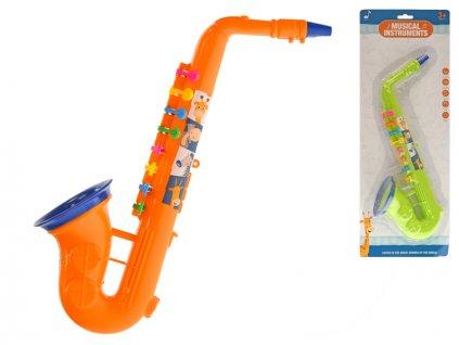 Saxofon 37cm 2barvy na kartě
