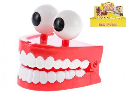 Skákající zuby s očima 7cm na klíček 12ks v DBX