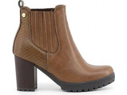 XTI dámská kotníčková obuv hnědá 39