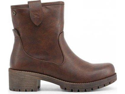 XTI dámská kotníčková obuv hnědá 36