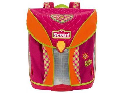 Scout Školní batoh Nano růžové srdíčko