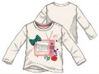 Primigi dívčí tričko bílá 86