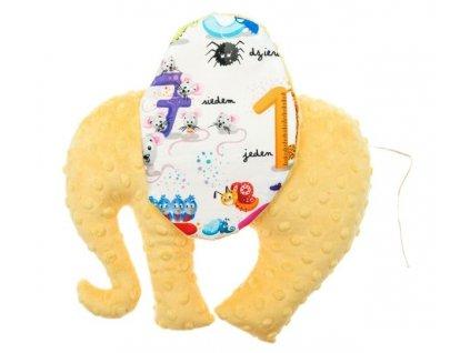 CuddlyZOO Elephant Toy světle žlutá