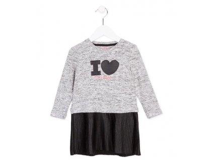 Losan dívčí šaty 92 černá/šedá