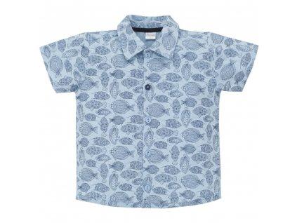 PINOKIO Chlapecké košile Little Fish 80 modrá