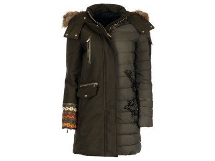 Desigual dámský kabát Monica 40 zelená