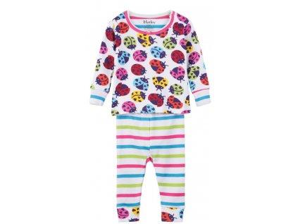 Hatley dívčí pyžamo 68 vícebarevná