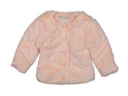 Dirkje dívčí plyšový kabátek 92 růžová