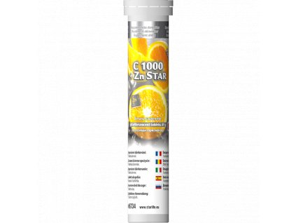 C 1000 + Zn STAR, 20 tbl - vysoká dávka vitaminu C s vysoce vstřebatelným zinkem ve formě glukonanu