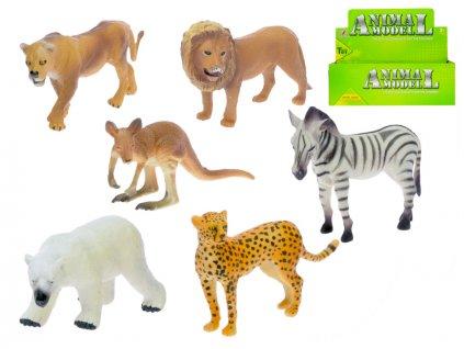 Zvířátka safari 10-12cm 6druhů 24ks v DBX