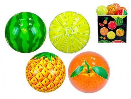 Míč 11cm ovoce 10m+ 4druhy 24ks v PDQ