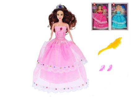 Panenka princezna kloubová 29cm s doplňky 3barvy v krabičce