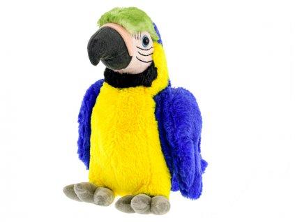 Papoušek plyšový 29cm modrý 0m+ v sáčku