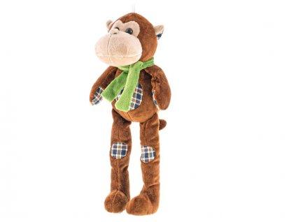 Opice plyšová dlouhé nohy 32cm 0m+ v sáčku