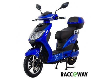 Elektroskútr RACCEWAY E-FICHTL, modrý-lesklý s baterií 20Ah