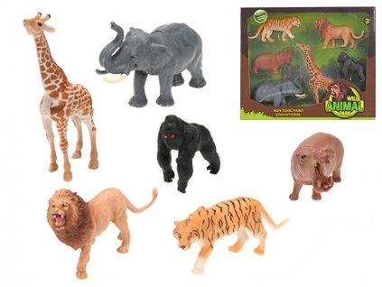 Zvířátka safari 7-17cm 6ks v krabičce
