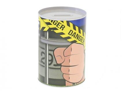 Pokladnička policie 8,5x12cm kov v sáčku