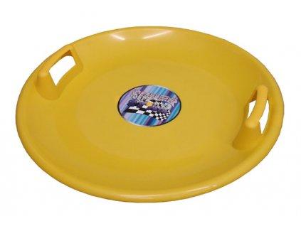 Acra A2034 Superstar plastový talíř - žlutý