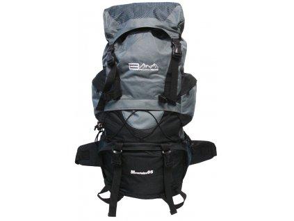 ACRA BA65 Turistický batoh šedo-černý 65 l