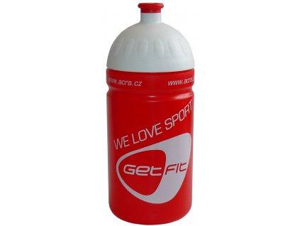 Acra CSL05 Sportovní láhev 0,5L červená