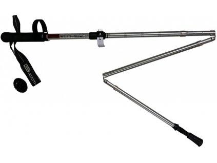 ACRA LTH133 Speciální 5-dílné trekingové hole, 1 pár s příslušenstvím 115 - 135 cm