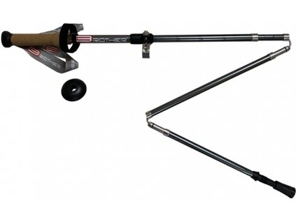 ACRA LTH134 5-dílné trekingové hole s korkovou rukojetí, 1 pár s příslušenstvím 115 - 135 cm