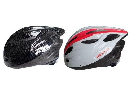 ACRA CSH31L bílá/černá cyklistická helma velikost L(58-61cm) 2014