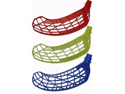 Acra H043 Florbalová čepel EXRUN tvrdá pravá modrá, žlutá, červená