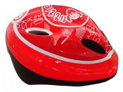 Brother CSH065 Cyklistická dětská helma velikost S (48/52 cm) červená 2017