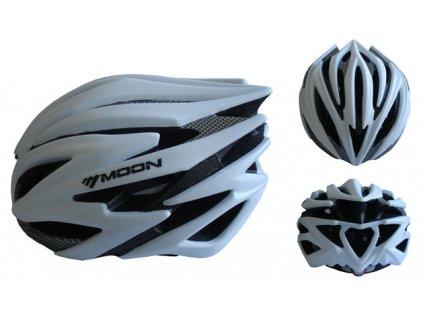 ACRA CSH98S-M stříbrná cyklistická helma velikost M (55-58 cm) 2018