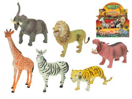 Zvířátka safari 15-20cm 6druhů 12ks v DBX