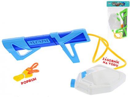 Vodní puška 35cm se zásobníkem na vodu 4barvy v sáčku