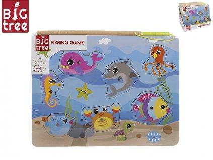 Hra ryby dřevěná magnetická 30x22cm 24m+ 12ks v DBX