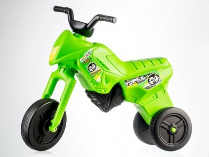 Teddies Teddies 50000404 Odrážedlo Enduro Yupee zelené velké plast výška sedadla 31cm nosnost do 25kg 12m+