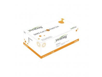 Antigenní test z přední části nosu - VIVA DIAG SARS-CoV-2 Ag Rapidtest (i pro děti) sada 25 ks (uvedená cena za 1 kus)