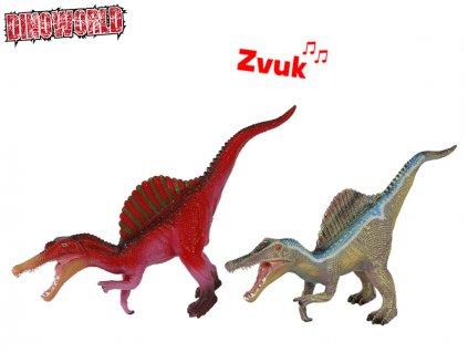 Dinosaurus Spinosaurus 45cm na baterie se zvukem 2barvy v sáčku