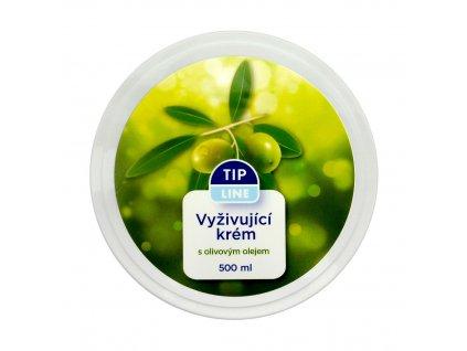 Tip Line (ČR) TIP LINE Krém pro denní i noční péči 500ml Tip Line krém: Vyživující krém s olivovým olejem (zelený)