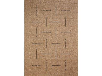 Devos koberce Kusový koberec FLOORLUX Coffee/Black 20008 Spoltex - 60x110 cm