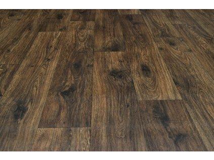 PVC podlaha Hometex 591-05 dub tm. hnědý - Rozměr na míru cm