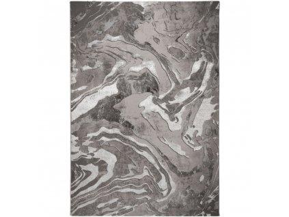 Flair Rugs koberce AKCE: 160x230 cm Kusový koberec Eris Marbled Silver - 160x230 cm